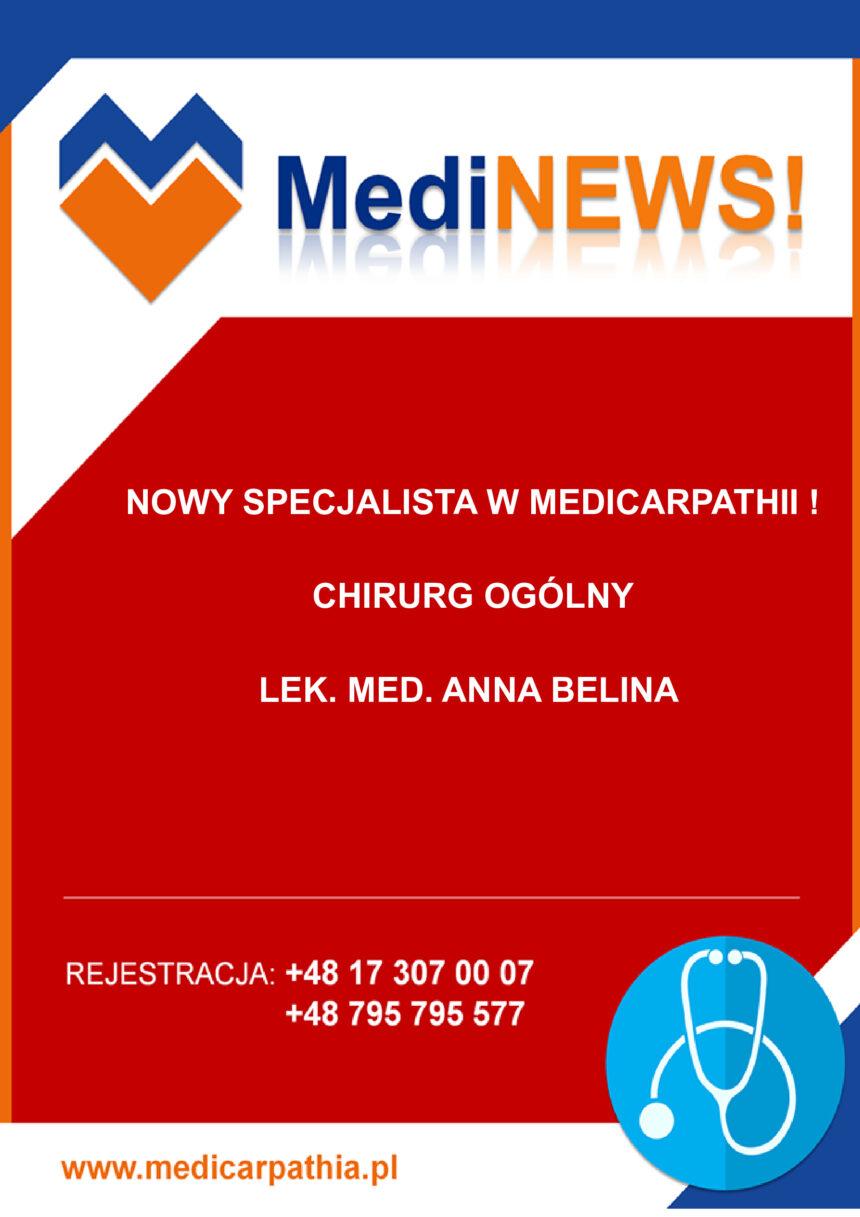 NOWY SPECJALISTA W MEDICARPATHII!